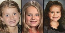 L-R: Clara Pavek, 5, Lydia Milberg, 11, and Laynie Jo Amos, 5, all cousins, were killed in a car accident in Pierce County Wis. on Dec. 12, 2013.