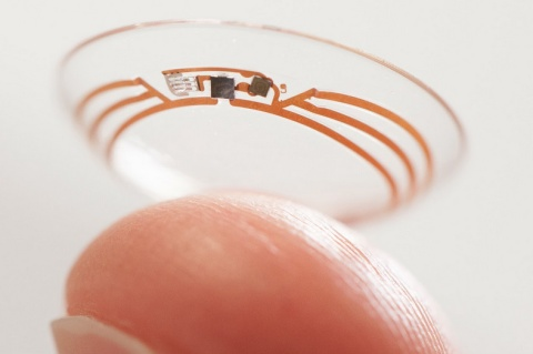 glucose measuring lens by google
