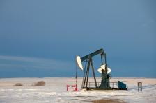 An oil pumpjack.