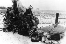 Wreckage of Buddy Holy crash