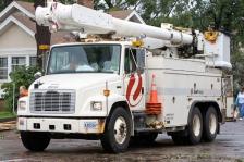 Xcel Energy truck minneapolis