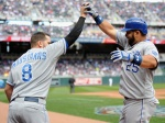 The Kansas City Royals were the only team celebrating during the Twins home opener at Target Field, Monday.