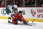 The Minnesota Wild locked up a Western Conference playoff spot with their 2-1 victory in Chicago on Tuesday.