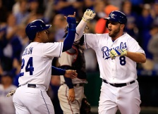 Mike Moustakas had a home run and three hits leading the Royals back to a 6-5 victory in Kansas City.