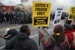 GETTY EDITORIAL DO NOT REUSE Protests in Baltimore After Funeral Held For Baltimore Man Who Died While In Police Custody