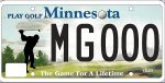 Golf license plate