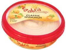 Sabra hummus. Some of the product was recalled for possible listeria contamination on April 8, 2015.