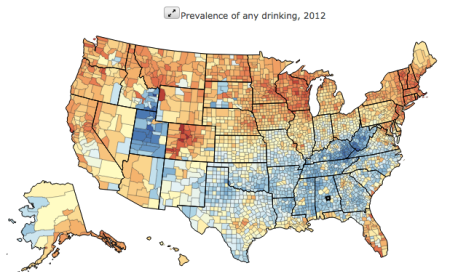 US health map drinking