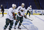 Wild prepare for Game 2 (Wild.com Twitter) Embedded 2015-04-17 at 2.33.33 PM