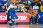SYRACUSE, NY - FEBRUARY 14:  Tyus Jones #5 of the Duke Blue Devils dribbles up court during the second half against the Syracuse Orange on February 14, 2015 at The Carrier Dome in Syracuse, New York.  Duke defeats Syracuse 80-72.  (Photo by Brett Carlsen/Getty Images)