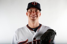 Alex Meyer #51 of the Minnesota Twins poses for a photo on March 3, 2015 at Hammond Stadium in Fort Myers, Florida.  (Photo by Brian Blanco/Getty Images)