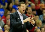 KANSAS CITY, MO - MARCH 14:  Head coach Fred Hoiberg of the Iowa State Cyclones reacts in the first half against the Kansas Jayhawks during the championship game of the Big 12 Basketball Tournament at Sprint Center on March 14, 2015 in Kansas City, Missouri.  (Photo by Jamie Squire/Getty Images)