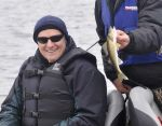 Gov. Dayton's first walleye he caught during the Governor's Fishing Opener on Lake Vermilion, Sat. May 9, 2015.