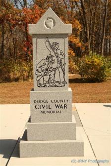 Dodge County Civil War memorial