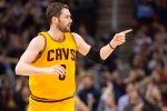 CLEVELAND, OH - FEBRUARY 8: Kevin Love #0 of the Cleveland Cavaliers celebrates after scoring during the first half against the Los Angeles Lakers at Quicken Loans Arena on February 8, 2015 in Cleveland, Ohio. NOTE TO USER: User expressly acknowledges and agrees that, by downloading and or using this photograph, User is consenting to the terms and conditions of the Getty Images License Agreement. (Photo by Jason Miller/Getty Images)