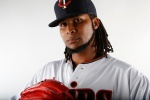 FORT MYERS, FL - MARCH 3:  Ervin Santana #54 of the Minnesota Twins poses for a photo on March 3, 2015 at Hammond Stadium in Fort Myers, Florida.  (Photo by Brian Blanco/Getty Images)
