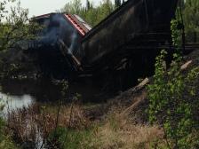 international fall strain derailment bridge fire 2