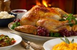 photo of turkey at thanksgiving dinner