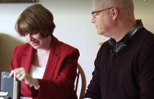 Sen. Amy Klobuchar and Paul Reyburn of St. Paul.