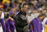 Mike Tice with Vikings