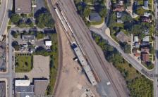 NE Minneapolis train yard