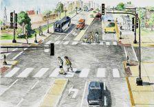 Sketch showing improvements along Snelling Avenue in St. Paul.