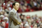 BLOOMINGTON, IN - FEBRUARY 15:  Richard Pitino the head coach of the Minnesota Golden Golphers gives watches the action during the game against the Indiana Hoosiers at Assembly Hall on February 15, 2015 in Bloomington, Indiana.  (Photo by Andy Lyons/Getty Images)