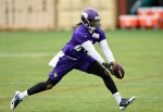 EDEN PRAIRIE, MN - JUNE 4: Cordarrelle Patterson #84 of the Minnesota Vikings makes a catch during practice on June 4, 2015 at Winter Park in Eden Prairie, Minnesota. (Photo by Hannah Foslien/Getty Images)