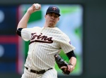 MINNEAPOLIS, MN - JUNE 20: Trevor May #65 of the Minnesota Twins delivers a pitch against the Chicago Cubs during the first inning of the game on June 20, 2015 at Target Field in Minneapolis, Minnesota. (Photo by Hannah Foslien/Getty Images)