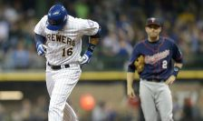 MILWAUKEE, WI - JUNE 26: Aramis Ramirez #16 of the Milwaukee Brewers runs the bases after hitting a two run homer in the second inning against Minnesota Twins during the Interleague game at Miller Park on June 26, 2015 in Milwaukee, Wisconsin. (Photo by Mike McGinnis/Getty Images)