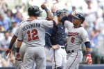 MILWAUKEE, WI - JUNE 27: Eduardo Escobar #5 of the Minnesota Twins celebrates with Chris Herrmann #12 after hitting a three run homer in the fifth inning against the Milwaukee Brewers during the Interleague game at Miller Park on June 27, 2015 in Milwaukee, Wisconsin. (Photo by Mike McGinnis/Getty Images)  *** Local Caption *** Eduardo Escobar; Chris Herrmann