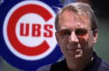 12 Jul 2001:  General Manager Andy MacPhail of the Chicago Cubs stands in front of a cubs logo before the game against the Chicago White Sox at Wrigley Field in Chicago, Illinois. The Cubs defeated the White Sox 5-1.Mandatory Credit: Jonathan Daniel  /Allsport