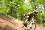 A mountain bike trail at Spirit Mountain in Duluth.