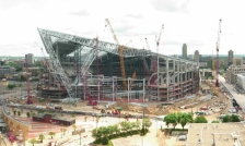 vikings stadium construction june 15, 2015 via webcam