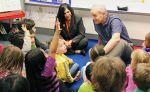 Gov. Mark Dayton visiting an elementary school classroom. (Undated)