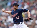 MINNEAPOLIS, MN - MAY 31: Ricky Nolasco #47 of the Minnesota Twins pitches against the Toronto Blue Jays during the first inning of the game on May 31, 2015 at Target Field in Minneapolis, Minnesota. (Photo by Hannah Foslien/Getty Images)