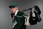 ST PAUL, MN - JUNE 25:  60th overall pick Mario Lucia by the Minnesota Wild poses for a photo portrait during day two of the 2011 NHL Entry Draft at Xcel Energy Center on June 25, 2011 in St Paul, Minnesota.  (Photo by Nick Laham/Getty Images)