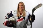 PARK CITY, UT - OCTOBER 02:  Ice Hockey player Amanda Kessel poses for a portrait during the USOC Media Summit ahead of the Sochi 2014 Winter Olympics on October 2, 2013 in Park City, Utah.  (Photo by Doug Pensinger/Getty Images)