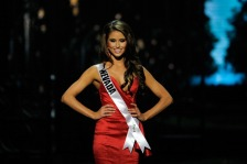 BATON ROUGE, LA - JUNE 08:  Miss Nevada USA Nia Sanchez competes in the 2014 Miss USA Competition at The Baton Rouge River Center on June 8, 2014 in Baton Rouge, Louisiana.  (Photo by Stacy Revere/Getty Images)