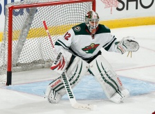 SUNRISE, FL - NOVEMBER 24: Goaltender Niklas Backstrom #32 of the Minnesota Wild warms up prior to the game against the Florida Panthers at the BB&T Center on November 24, 2014 in Sunrise, Florida. (Photo by Joel Auerbach/Getty Images)