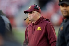 MADISON, WI - NOVEMBER 29: Head Coach Jerry Kill of the Minnesota Golden Gophers walks the sidelines during the first half against the Wisconsin Badgers at Camp Randall Stadium on November 29, 2014 in Madison, Wisconsin. (Photo by Mike McGinnis/Getty Images)