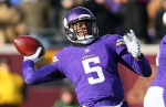 MINNEAPOLIS, MN - NOVEMBER 30: Teddy Bridgewater #5 of the Minnesota Vikings throws a pass against the Carolina Panthers in the fourth quarter on November 30, 2014 at TCF Bank Stadium in Minneapolis, Minnesota. (Photo by Adam Bettcher/Getty Images)