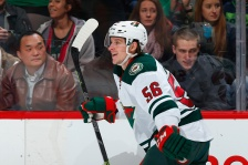 DENVER, CO - FEBRUARY 28:  Erik Haula #56 of the Minnesota Wild celebrates his goal against the Colorado Avalanche to take a 1-0 lead in the first period at Pepsi Center on February 28, 2015 in Denver, Colorado.  (Photo by Doug Pensinger/Getty Images)
