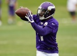 EDEN PRAIRIE, MN - JUNE 4: Mike Wallace #11 of the Minnesota Vikings makes a catch during practice on June 4, 2015 at Winter Park in Eden Prairie, Minnesota. (Photo by Hannah Foslien/Getty Images)