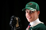 SUNRISE, FL - JUNE 26:  Joel Eriksson Ek poses for a portrait after being selected 20th overall by the Minnesota Wild during the 2015 NHL Draft at BB&T Center on June 26, 2015 in Sunrise, Florida.  (Photo by Mike Ehrmann/Getty Images)