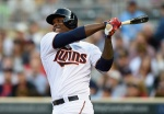 MINNEAPOLIS, MN - JULY 7: Miguel Sano #22 of the Minnesota Twins hits two-run home run against the Baltimore Orioles for his first career home run during the first inning of the game on July 7, 2015 at Target Field in Minneapolis, Minnesota. (Photo by Hannah Foslien/Getty Images)