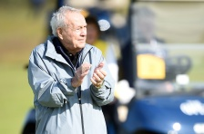 ST ANDREWS, SCOTLAND - JULY 15:  Arnold Palmer of the United States stands on the 18th green during the Champion Golfers' Challenge ahead of the 144th Open Championship at The Old Course on July 15, 2015 in St Andrews, Scotland.  (Photo by Stuart Franklin/Getty Images)