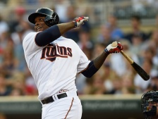 MINNEAPOLIS, MN - JULY 24: Miguel Sano #22 of the Minnesota Twins hits a two-run home run against the New York Yankees during the first inning of the game on July 24, 2015 at Target Field in Minneapolis, Minnesota. (Photo by Hannah Foslien/Getty Images)