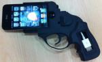 Gun shaped cellphone case