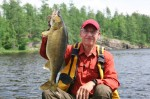 Angler with walleye fishing